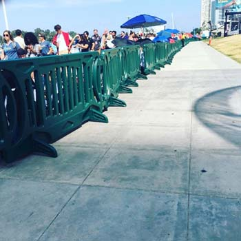 Safe-T-Lite, crowd control barriers, sidewalk barriers, event crowds
